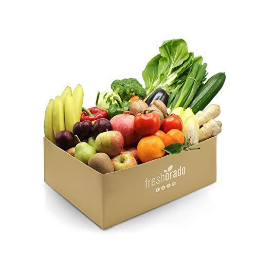 freshorado gemischte OBST & VEGGIE-BOX 6 kg frisches und leckeres Obst und Gemüse (2 Personen)