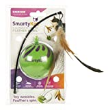 SmartyKat Feather Whirl Electronic Motion Cat Toy, As Seen On TV (9621), green