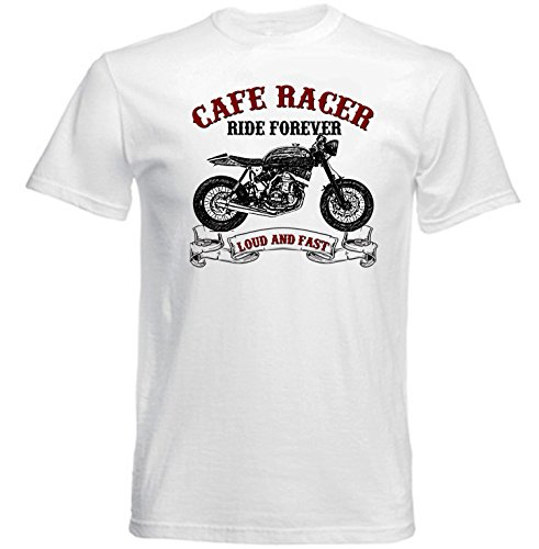 TEESANDENGINES Honda CRF 450X Cafe Racer Camiseta Blanca para Hombre de Algodon Size Xxlarge