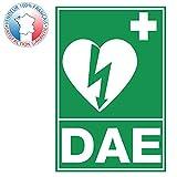 Panneau défibrillateur externe automatisé DAE Vert & blanc | Plaque...