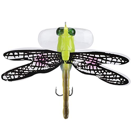 Tihebeyan Esche Artificiale, Hard Bait Life-Like Dragonfly Galleggiante Mosche di Pesca a Mosca per Trota Bass Pike Fishing Tackle Equipment