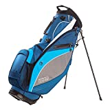 Izzo Golf Lite Stand Golf Bag Dark Blue/Light Blue/White Walking Ultra Light Perfect for Carrying on The Golf Course, with Dual Straps for Easy to Carry Golf Bag