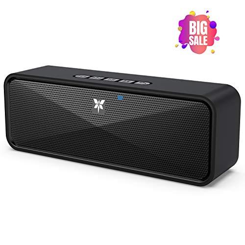 Bluetooth Lautsprecher Tragbarer Axloie Kabelloser Lautsprecher Bluetooth 5.0 mit eingebautem Mikrofon USB-Anschluss / TF-Karte / Aux 10 Stunden Spielzeit für iPhone, Samsung usw - Schwarz