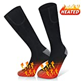 Jomst Rechargeable Electric Heated Socks Battery Powered Comfortable Thermo-Socks,3 Heating Settings Thermal Sock for Men and Women,Good Sports Outdoor Winter Novelty Warm Heating Sock. (Black)