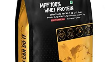 MyFitFuel 100% Whey Protein, 1Kg, 30 Servings (Swiss Vanilla)   Contains Isolate Protein