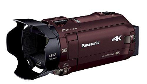 Panasonic 4Kビデオカメラ WX970M ワイプ撮り 軽量447g ブラウン HC-WX970M-T