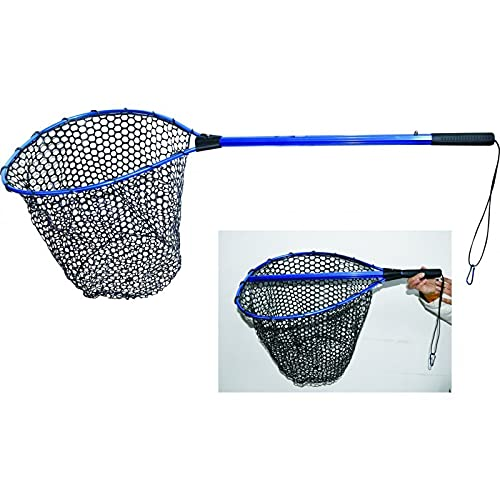 Guadino da Pesca con testa Gommata, Telescopic con telaio in alluminio e rete in silicone anti incaglio