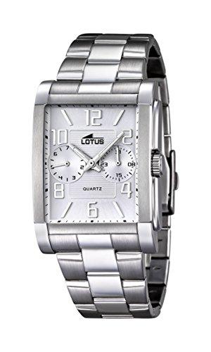 Lotus Herren Analog Quarz Uhr mit Edelstahl Armband 18220/1