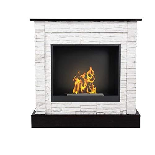Aflamo Bio-Fireplace Vigo Stone with Insert Organic 60 White/ Wenge