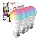 Sengled Smart Bulb, WiFi Light Bulbs, Color Changing Light Bulb, Smart Light Bulbs that Work with Alexa & Google Assistant, A19 RGB Alexa Light Bulb No Hub Required, 60W Equivalent 800LM CRI90, 4Pack