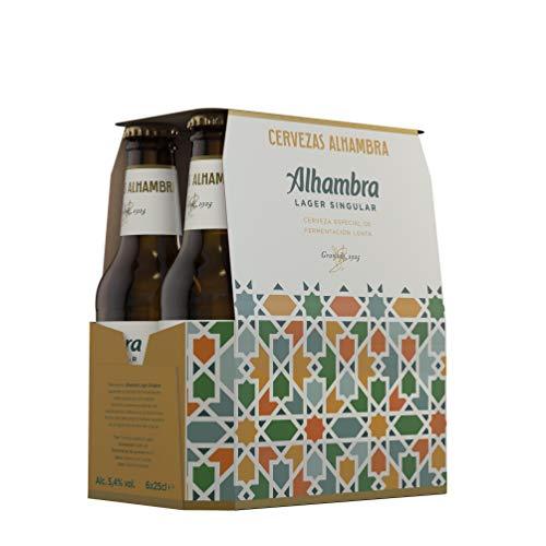 Alhambra Lager Singular Cerveza– Pack de 6 Botellas x 25cl