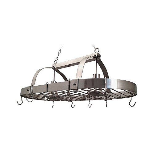 Elegant Designs PR1000-BSN Pot Rack Light, Brushed Nickel