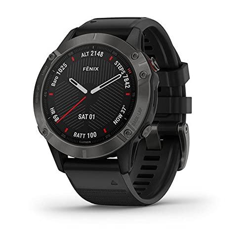 Garmin - Reloj GPS con Pulsómetro Fenix 6 Zafiro, Negro, L...