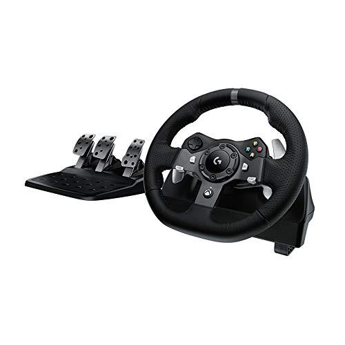 Logitech G920 Driving Force Volante de Carreras y Pedales, Force Feedback, Aluminio Anodizado,...