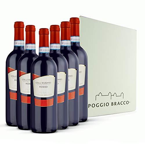Poggio Bracco - Vino Rosso Colli Euganei DOC - Veneto fermo da pasto | 6 x 750 ml