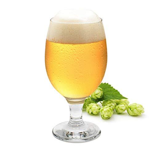 Kemes® Set di 6 bicchieri da birra, da 0,3 l, con manico a tulipano, per cocktail e feste