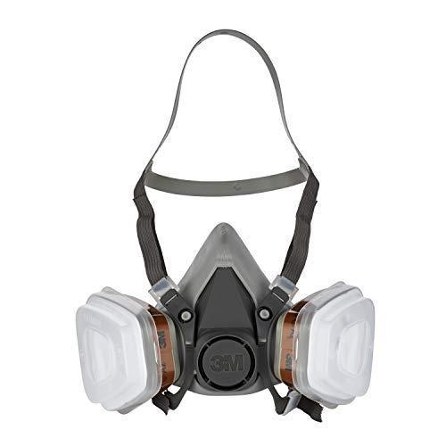 3M 6002C 6002-C Maschera Protettiva, Grigio