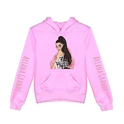 nuannuan 3D Print Ariana Grande Sweatshirt Girls Sportswear Sweet Tops Pullover Hoodies Sweet Singer Girls Casual Loose Fit for 3-16 Years