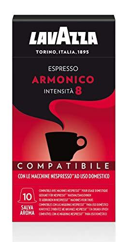 Lavazza 100 Capsule Compatibili Nespresso, Espresso Armonico, 10 Confezioni da 10 Capsule