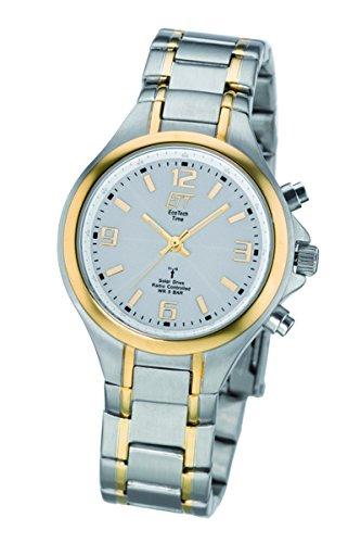 ETT Eco Tech Time Funk Solar Damen Uhr Analog mit Edelstahl Armband ELS-11379-76M