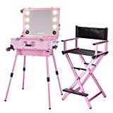 ZZSQ Mallette Maquillage Trolley Beauty Case Voyage Valise Studio Table de Maquillage Pliable...