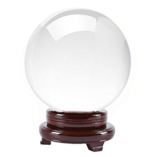 Amlong CrystalClear Crystal Ball 130mm (5 in.) Including Wooden Stand