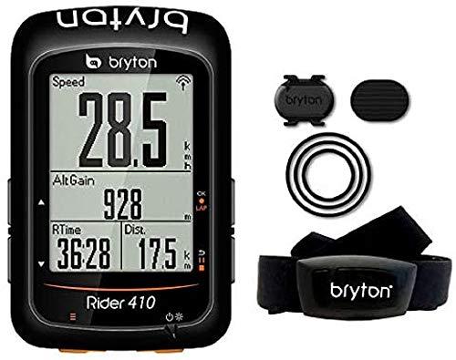 Bryton Rider 410T, Computer GPS Unisex Adulto, Nero, M