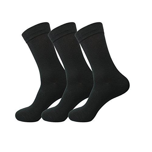 Jasmine Silk donna 3 paia Supersoft signore 100% calzini di bamb termica Sock 3-7 (nero)