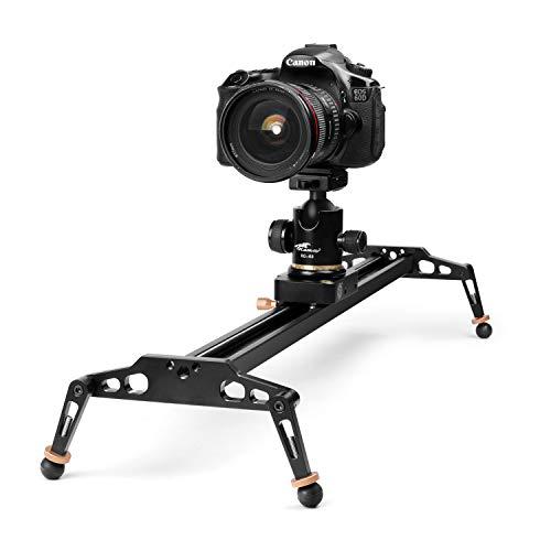TNP 40インチ / 100cm カメラスライダー デジタル一眼レフカメラ用 アルミニウム合金ドリートラックビデオスタビライザーレールシステム 17.6ポンド/8kgローディング付き シネマティックフィルムビデオ映像スタジオ撮影用 ソニー キャノン ニコン