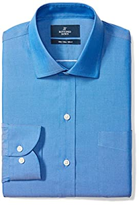 Made in Indonesia Long-sleeve pinpoint oxford non-iron dress shirt featuring spread-collar, offered with or without pocket at chest Slim Fit: close Fit to the body with a slight taper from chest to waist, slimmer sleeve, and closer armhole for a more...