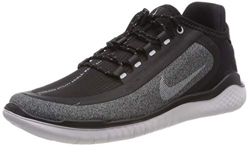 Nike Damen Laufschuh Free Run 2018 Shield Fitnessschuhe, Mehrfarbig (Black/White/Cool Grey/Vast Grey 002), 41 EU