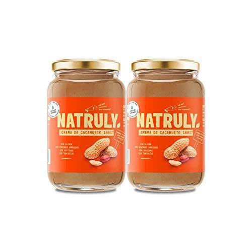 Crema de Cacahuete NATRULY Sin Azúcar, Vegana, Sin Gluten,