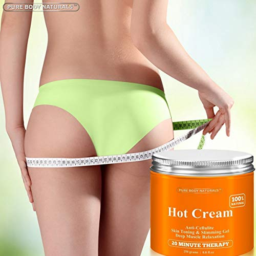 Pure Body Naturals Hot Cream, for Cellulite and Muscle Relaxation, 8.8 Ounce 2