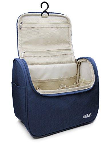 Trousse sac trousse de toilette cosmétiques, avec crochet et poignée, taille: 24 x 19,5 x 12,5 cm, Noir