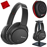 Sony WH-CH700N Wireless Noise Canceling Headphones with Case and Stand - Black