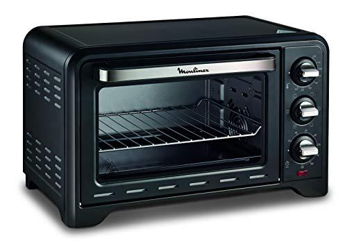 MOULINEX FOUR ACIER INOXYDABLE OPTIMO Noir, 1380 W, 19L Cuisson pizza pain tartes gateaux patisseries OX444810 - 24,5 x 32,5 x 22,6 cm