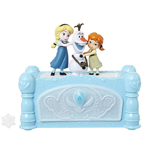 Disney Frozen Musical Jewelry Box with Do You Want to Build A Snowman Song, Watch Anna & Elsa Built Olaf! Snowflake Ring Included! Perfect Birthday, Christmas, Hanukkah Gift - for Girls Ages 3+