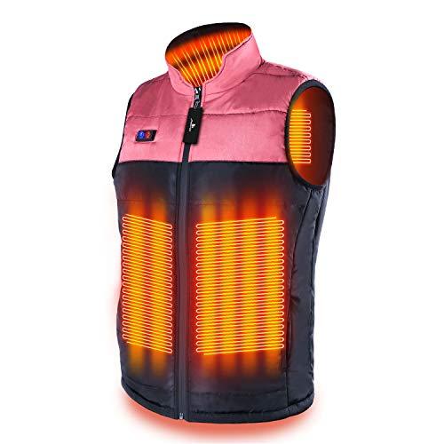 MEXITOP 電熱ベスト 電熱ジャケット 複数のヒーター 前後独立温度設定可能 3段温度調整 充電式ヒート USB加...