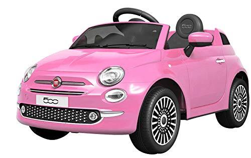 電動乗用カー フィアット500 FIAT500 電動乗用玩具 乗用玩具 [701] (ピンク)