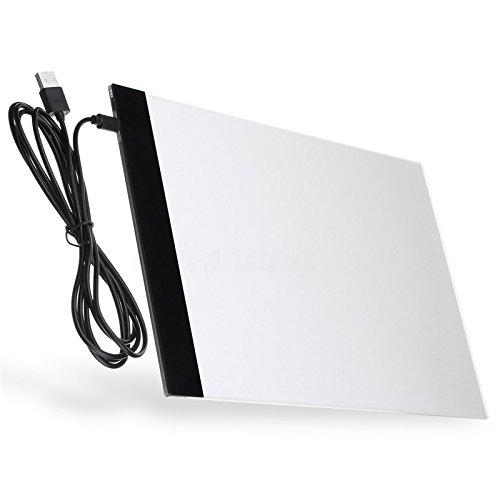 lzndeal A4 Tracing Light Box 9x12 Pollici Light Pad Ultra-Sottile Solo 3.5mm tavolino di...