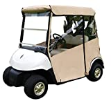 "Tan Golf Cart Cover – 3-Sided ""Over-The-Top"" Cart Cover for..."