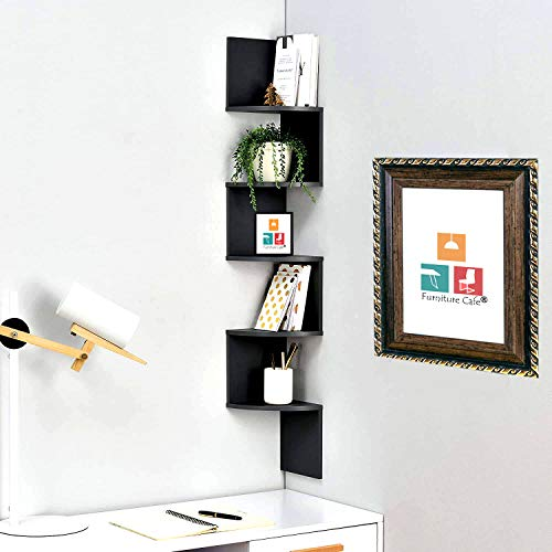 Furniture Cafe Zigzag Corner Wall Mount Shelf Unit