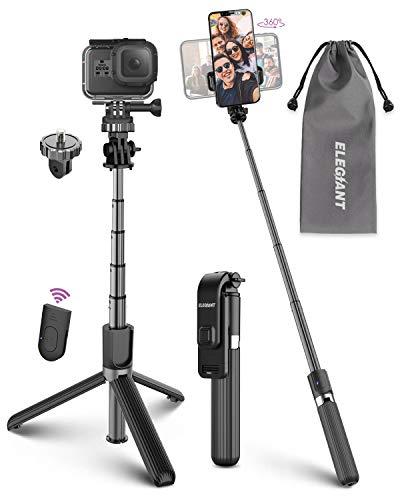 ELEGIANT Perche Selfie, Selfie Stick Trépied 4 en 1 Télécommande...
