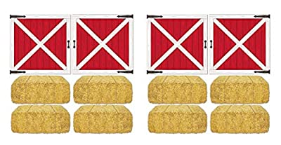 Includes 12 pieces of printed plastic props in package Props range in size from 15.5 inches to 32.5 inches Printed on a thin sheet of plastic and will need to be cut out Meant to be taped to walls for decoration Use to decorate for a farm or western ...