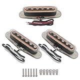Set of Alnico V Single Coil Pickup Set SSS for Strat Style Guitar Black Color