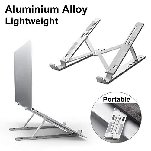 DOB SECHS Laptop Ständer, Einstellbare Tragbarer Faltbare Aluminiumlegierung Laptop-Halterung, Notebook ständer Kompatibel mit MacBook Air Pro, Huawei, Lenovo, Dell, HP, Samsung