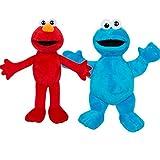 Offizielles Sesamstraße 25 cm Elmo und Cookie Monster Plüsch-Set
