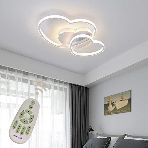 LED Plafonnier Moderne Salon Lumière Lustre Suspension Dimmable Coeur Design Acrylique Lampe Plafond Luminaire L'éclairage de Restaurant de la Chambre Couloir Bureau Éclairage Deco Lampe Ø50*H5cm
