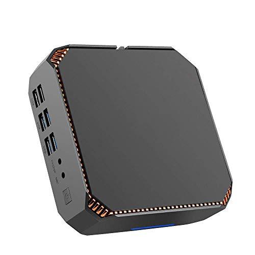DroiX CK2 Windows 10 PRO Mini Computer Office Workstation; Intel Core i7-7500U, HD Graphics 620, memoria RAM da 16GB, 512GB, 2.5'HDD/SSD Bay, Wi-Fi, Ethernet, BT, HTPC