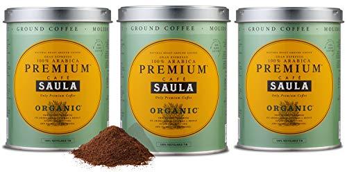 Café Saula Premium Ecológico 100% arábica molido - Pack 3